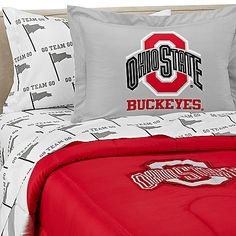 Ohio State University Dorm Bedding Set Htconered