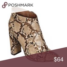 Snake Print Ankle Booties Available in Sizes 5.5, 6, 6.5, 7, 7.5, 8, 8.5, 9, 10 New in box.   Faux Leather.  ✔️Bundle discount: 10% off 2+ items.  ❌No trades clmayfae Shoes Ankle Boots & Booties