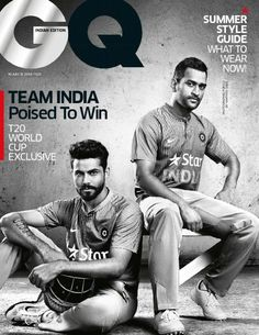 Buy GQ India Magazine a subscription of GQ India magazine from the world's largest online Magazine cafe store in USA. Ms Dhoni Wallpapers, Ms Dhoni Photos, Ravindra Jadeja, Online Labels, The School Run, Old Folks, Dapper Day, Sports Day, Music Promotion