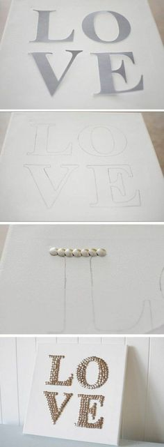 silver diy modern canvases lovingly