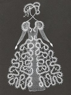 cm x 20 cm) Bobbin Lace Patterns, Crochet Patterns, Lace Art, Lace Jewelry, Weaving Art, Lace Making, Simple Art, String Art, Lace Detail