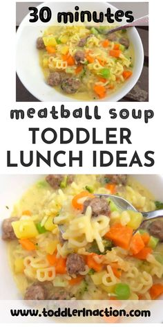 kids nutrition Meatball soup is a great toddler lunch idea. Easy to make, yummy to eat. Works all year round. Creamy, nutritious and healthy. This meatball soup can be part of any weekl Toddler Lunch Recipes, Healthy Toddler Lunches, Healthy Toddler Meals, Baby Food Recipes, Healthy Recipes For Toddlers, Easy Toddler Snacks, Snacks Kids, Daycare Meals, Kids Meals