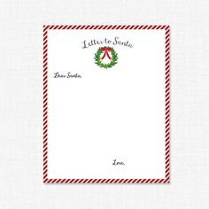Letter to Santa Blank by adelicategift www.adelicategift.com