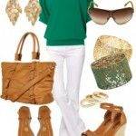 Summer Outfits 2013 | Turqoise Off-Shoulder Top