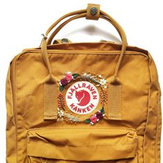 Re-Kanken Backpack - Fjallraven Kanken - Custom embroidery Kanken - Hand embroidery Kanken - Kanken classic embroidered backpack by HoopsAndExpectations Mochila Kanken, Kånken Rucksack, Kanken Backpack, Yellow Kanken, Selling Handmade Items, Cute Embroidery, Embroidery Designs, Embroidery Stitches, Totes