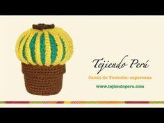 Cactus redondo tejido en crochet (amigurumi) - YouTube
