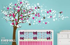 nursery decal turquoise, pink