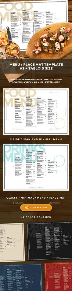 Food and Drinks Menu Template PSD. Download here: http://graphicriver.net/item/menu-template/16731697?ref=ksioks