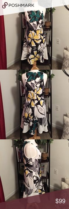 BNWT Karen Kane Peplum Dress BNWT Karen Kane Peplum flowered dress.  Has a tiny stain on the collar.  If dry cleaned I'm sure they can get it out.  Super summery and stylish. Karen Kane Dresses Midi