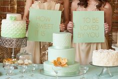 Mint & gold wedding ideas | Real Weddings and Parties | 100 Layer Cake
