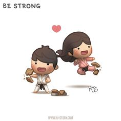"""Check out the comic """"HJ-Story :: Be Strong"""" http://tapastic.com/episode/56517"""