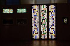 Van Doesburg and the International Avant-Garde: Constructing a New World Theo Van Doesburg, Ramen, Geometry, Illustrators, Stained Glass, Museum, Construction, Stedelijk, World