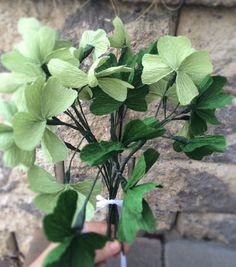 Shamrock Bouquet, Four Leaf Clover, Paper Clovers, St. Patrick's Day Flowers, St. Patricks Day Decoration, Irish Flowers, Irish Gift, Clover