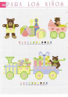 ♥Meus Gráficos De Ponto Cruz♥: Bebês-Motivos para Babadores em Ponto Cruz