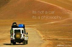 It's not a car. It's a philosophy.