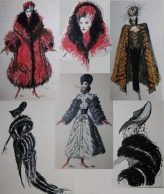 Ballet Costumes, Disney Costumes, Movie Costumes, Halloween Costumes, Thick Girl Fashion, Weird Fashion, Fur Fashion, Cruella Deville Costume, Witch Outfit