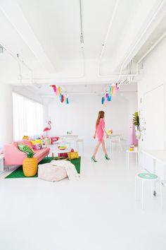 Studio DIY Headquarters - love the color!