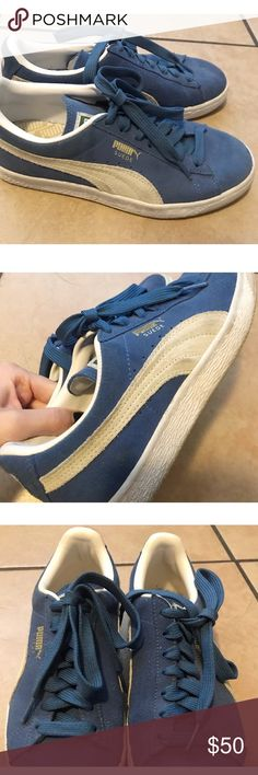 on sale c30f7 e2df0 Puma Suede Blue Sneakers Worn twice. Size  7. No defects Puma Shoes Blue