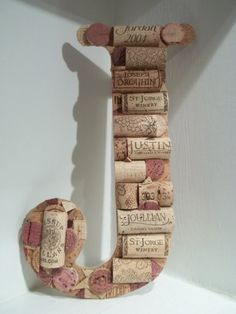 Wine Cork Letter J by MyMamaMaria on Etsy, $50.00