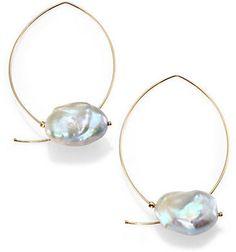 Mizuki - Sea of Beauty Keshi Grey Baroque Pearl & Yellow Gold Marquee Earrings Tahitian Black Pearls, Keshi Pearls, Gold Hoop Earrings, Pearl Earrings, Gold Jewelry, Jewelry Accessories, Diy Jewelry Inspiration, Jewelry Ideas, Affordable Jewelry
