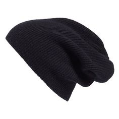 Women's Halogen Slouchy Cashmere Beanie found on Polyvore featuring accessories, hats, black, saggy beanie, beanie cap, beanie cap hat, cashmere slouchy beanie and cashmere slouch hat