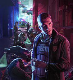 FLOYD by clarkushuggins on DeviantArt Cyberpunk 2020, Arte Cyberpunk, Cyberpunk Aesthetic, Mafia, Character Concept, Character Art, Modern Magic, Cyberpunk Character, Collage Techniques