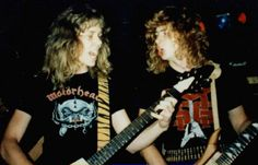 James Hetfield & Dave Mustaine en sus inicios