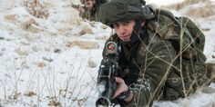 Israeli soldiers seen during an exercise in the snowy Hermon mountains, Golan Heights, Northern Israel. December 14, 2015. (Photo: IDF Spokesperson)
