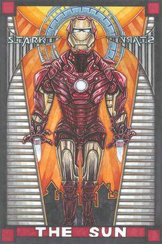 Marvel Ironman tarot card - The sun
