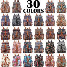30 Colors Exclusive Handmade Vintage Rucksack Printing Canvas Women Backpack Mujer Mochila Escolar Feminina School Bag Sac a Dos <3 Haga clic en la VISITA botón para entrar en la página web