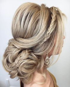 braided updo wedding hairstyle #weddinghair #hairstyle #bridalhair