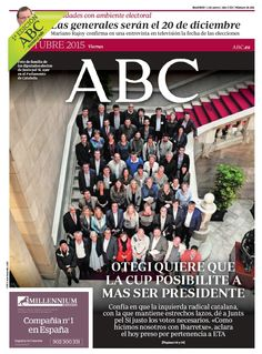 La portada de ABC del viernes 2 de octubre