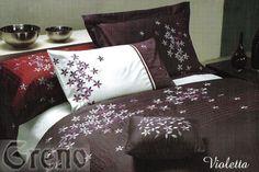 Delikatna i gładka w 100% pościel Violetta bawełniana satyna ozdobiona wyrafinowanym, florystycznym haftem jest idealna dla osób ceniących wysublimowaną elegancję. http://mirat.eu/posciel-satynowa-haftowana-violetta-160x200,id14940.html