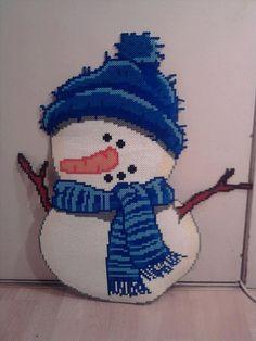 Giant Winter snowman hama perler beads