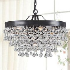 Shop for Claudia 5-light Antique Black Glass Drop Chandelier. Get free shipping at Overstock.com - Your Online Home Decor Outlet Store! Get 5% in rewards with Club O!