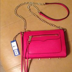 Rebecca Minkoff Avery crossbody NWT Rebecca Minkoff Saffiano leather crossbody. New with tags and extra zipper laces. 9 x 6 1/2 inches. Gold tone hardware. Rebecca Minkoff Bags Crossbody Bags