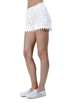 df0b5228a2 Short donna Silvian Heach in pizzo macrame' foderato bianco SHORTS MYRNA - Ronca  1862 srl