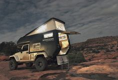 ::: Jeep® ActionCamper© - fully equipped expedition ready slide-in camper / by Thaler Design :::