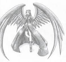 Anime Drawings In Pencil Google Search Pencil Drawings Cool Pencil Drawings Angel Drawing