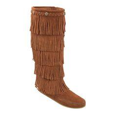 Women's Minnetonka Moccasin 5 Layer Fringe Boot. I want these