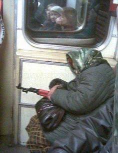 """""""Only In Russia"""" AK-47s on public transportation"""