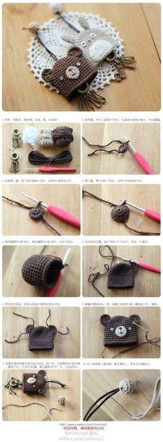Crochet key fobs
