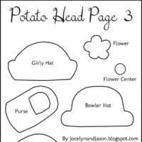 Mr Potato Head Body Template And Tutorial To Make Out Of Felt With