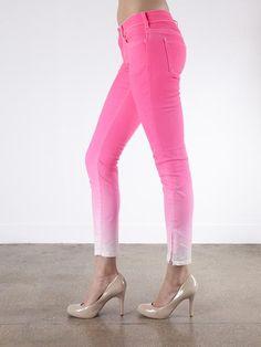Fun Pink Ombre jeans, Bamboo 75/ super cute!!!