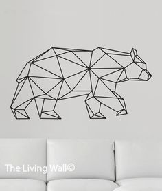 Geometric Bear Wall Decal, Geometric Animals Decals, Home Decor Wall Decals…