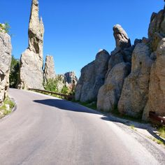 Custer State Park SD Route panoramique Needles rd  Needles Road scenic road #PleinAirEnVR
