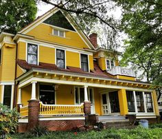Best Yellow House With Red Roof Neat Yellow Home With White 640 x 480