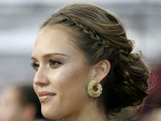 Jessica Alba con peinado en chongo / peinado para novia / boda