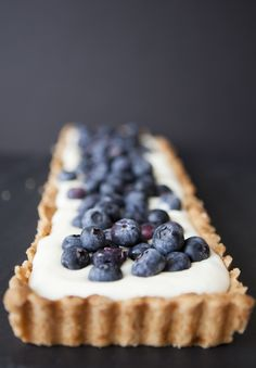 Lemon Cream  Blueberry Tart - growing and cooking with blueberries