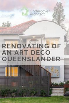 Renovating an Art Deco Queenslander into a contemporary family home can be challenging. Read on to see how we achieved this in this renovation project. Exterior Color Schemes, Exterior Paint Colors, Colour Schemes, Outdoor Living Areas, Outdoor Rooms, Outdoor Decor, Art Deco Colors, Outdoor Showers, Queenslander